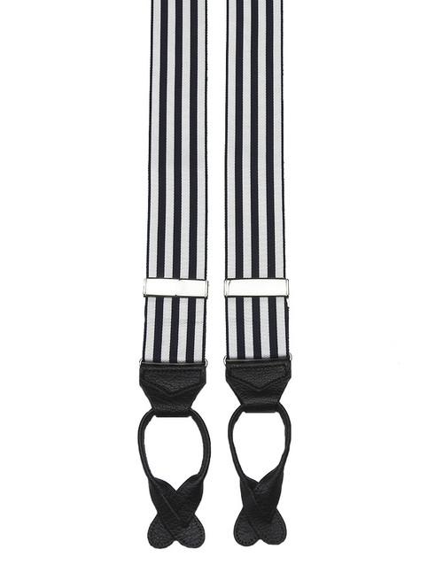 Black And White Striped Barathea Braces