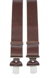 Extra Wide Brown Leather Braces