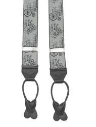 Penny Farthing Woven Silk Braces