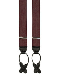 Burgundy Tweed Button Braces
