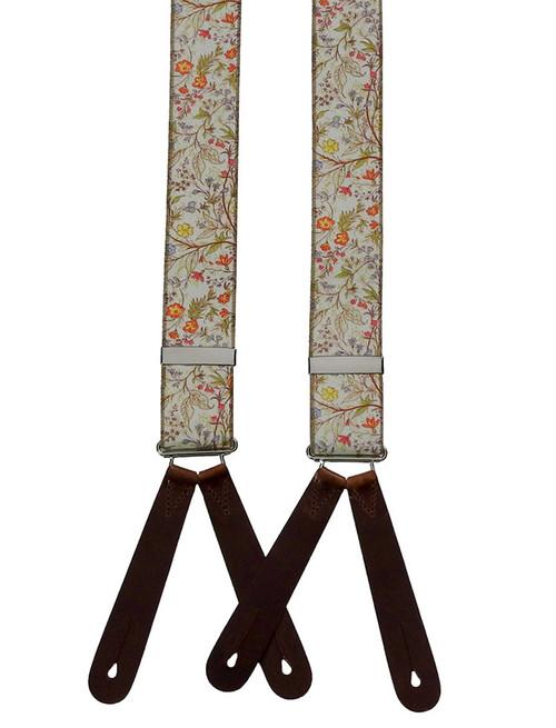 1940s Floral Braces