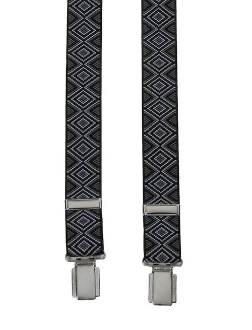 H-Back Black Patterned Braces
