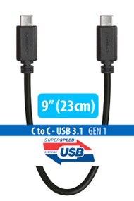 "9"" (23cm) 3.1 USB-C to USB-C Cable (Type C Cable)"