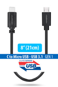 USB-C to Micro USB Short Cable