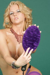 16in Ping Pong Paddle W/Purple Faux Fur
