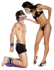 Fetish Fantasy Purple Pleasure Bondage Set