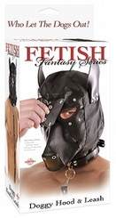 Fetish Fantasy Series Doggie Hood and Leash