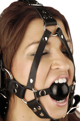 Leather Ball Gag Harness