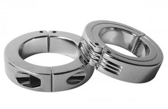 Locking Hinged Cock Ring- Large