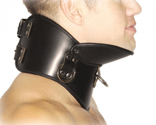 Strict Leather BDSM Posture Collar - Small/Medium