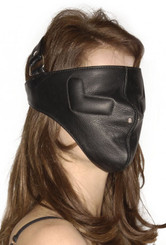 Strict Leather Full Face Bondage Mask - SM