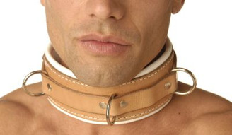 Strict Leather Padded Hospital Style Restraint Collar