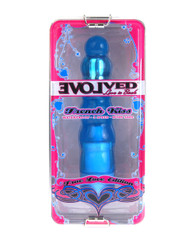 True Love French Kiss 7 inch Vibrator Blue