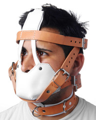 Hospital Style Leather Muzzle