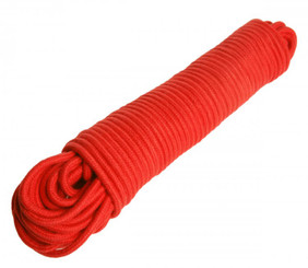 96 Foot Cotton Bondage Rope - Red