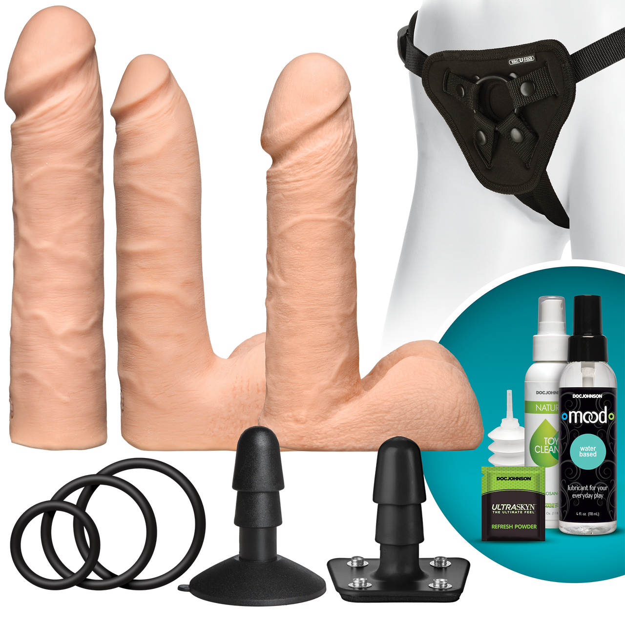 And the double penetration harness and dildo set 7622