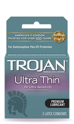 TROJAN Ultra Thin Lubricated Condoms