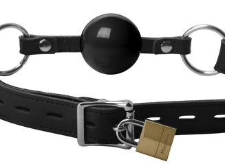 Classic Locking Silicone Ball Gag - Black