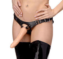 Dominance Leather Strap-On Dildo
