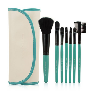 Make Up Brush Set In White / Green 7 pcs * Free Shipping *