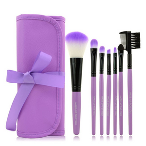 Make Up Brush Set In Purple 7 pcs * Free Shipping *