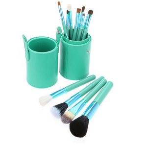 Make Up Brush Set In Green 12 pcs * Free Shipping *