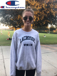 LACROSSE Champion crew neck - Lt. Steel