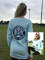 Lacrosse Jeep - comfort colors brand long sleeve - chambray