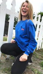 Millie Dog - crew neck color royal
