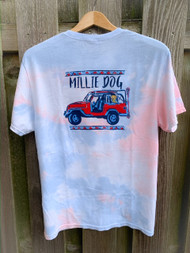 Millie Dog LAX jeep short sleeve - Faded Tye Dye