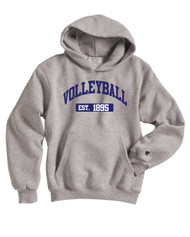 Volleyball Champion Hood - color Lt Steel