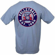 Volleyball Jeep short sleeve - color Washed Denim