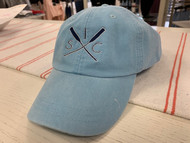 SIC crossed oars baseball hat - color dusty blue
