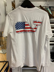 Vineyard Vines Whale Flag short sleeve - color white