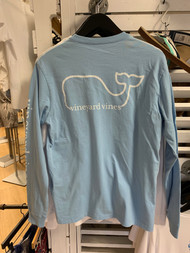 Vineyard Vines pocket long sleeve - color jake blue