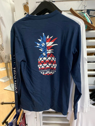 Vineyard Vines pineapple USA long sleeve - color blue blazer