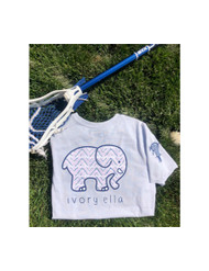 Ivory Ella Lacrosse Chevron - short sleeve color moonstone