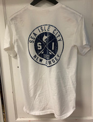 Sea Isle Circle Fish design short sleeve - color white