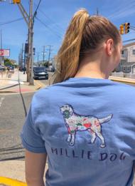 "Millie Dog ""Sea Isle"" beach tag design - color washed denim"