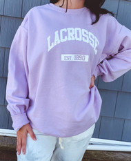 Lacrosse crew neck - color orchid