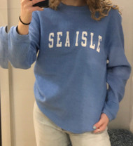 Sea Isle cord crew neck - color Lt Blue