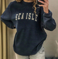 Sea Isle cord crew neck - color navy