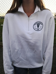 Coast to Coast Lacrosse brand 1/4 zip - color white