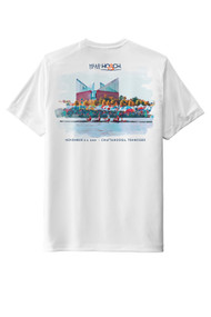 Official 2021 Event tee - Head of the Hooch Painterly Tech short sleeve featuring UV 50 protection