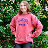 Lacrosse crew neck red sweatshirt