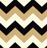 Arthouse - Glitterati - Chevron Black/Gold 892300