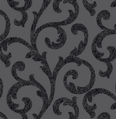 Arthouse - Glitterati - Scroll Black 892400