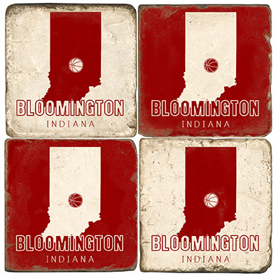 Bloomington Indiana Coaster Set.  Handmade Marble Giftware by Studio Vertu.
