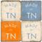 Made in Tennessee Coaster Set. Handmade Marble Giftware by Studio Vertu.