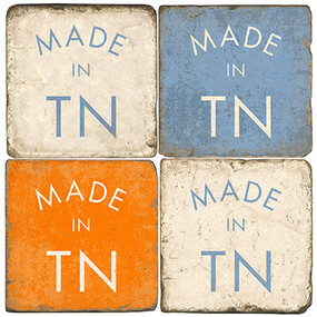 Made in Tennessee Coaster Set. Handmade Marble Giftware by Studio Vertu.